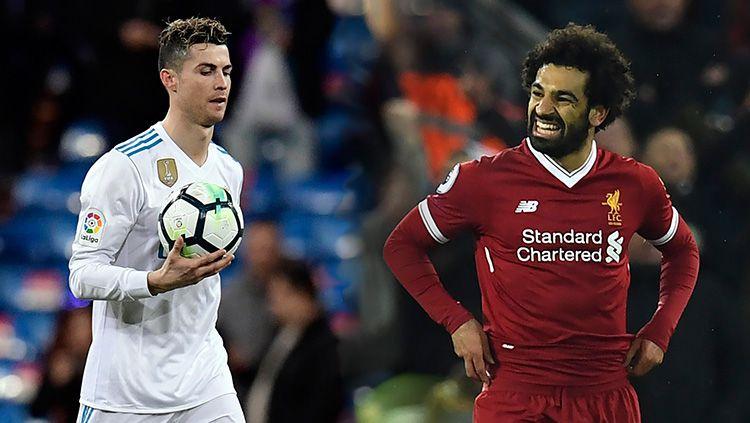 Cristiano Ronaldo dan Mohamed Salah. Copyright: © Goal.com