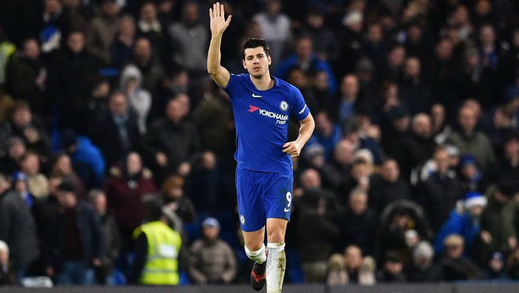 Penyerang Chelsea, Alvaro Morata. Copyright: © Getty Images