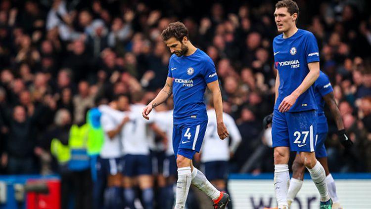 Chelsea ketika ditekuk Tottenham.  Copyright: © Getty Images
