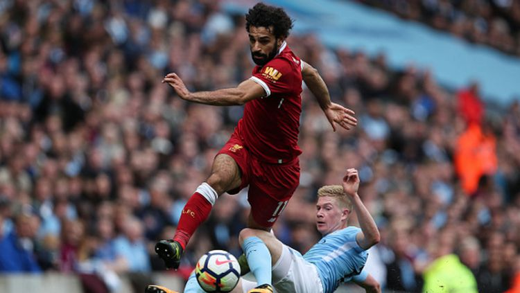 Mohamed Salah dan Kevin De Bruyne. Copyright: © Getty Images