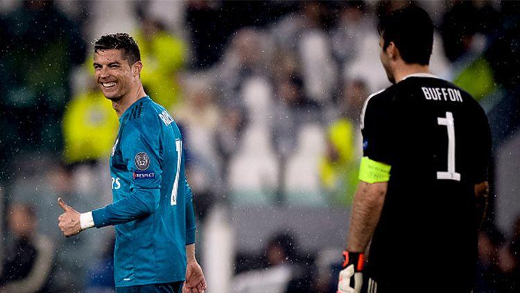 Cristiano Ronaldo dan Buffon Copyright: © Getty Images