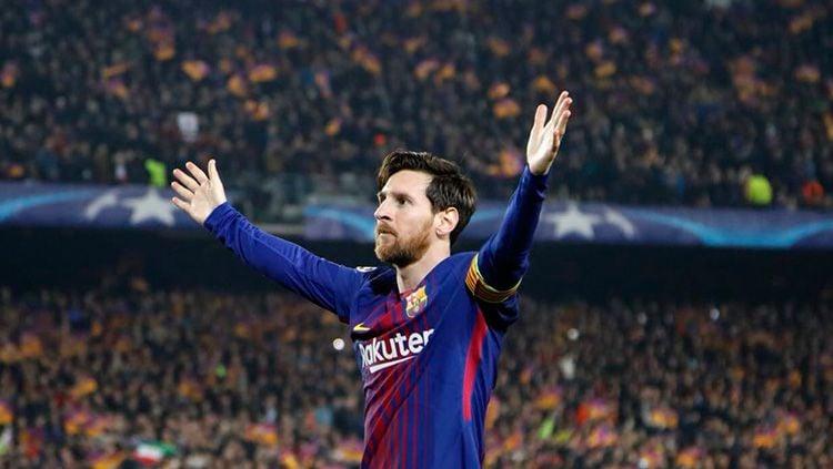 Selebrasi Messi Copyright: © Twitter