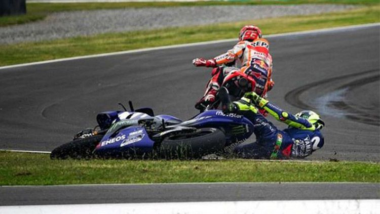 Marc Marquez dan Valentino Rossi. Copyright: © Instagram/@motogp