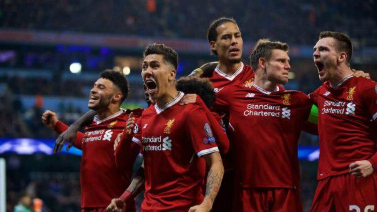 Liverpool berhasil lolos dengan agregat 5-1 atas Manchester City. Copyright: © Getty Images
