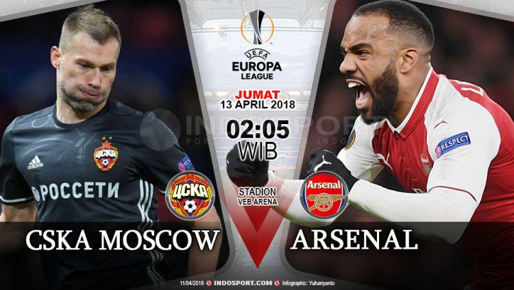 Prediksi CSKA Moscow vs Arsenal Copyright: © Grafis:Yanto/Indosport.com
