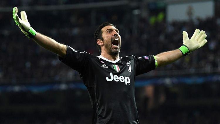 Aksi selebrasi Gianluigi Buffon. Copyright: © Getty Images