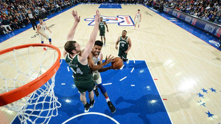 Milwaukee Bucks vs Philadelphia 76ers. Copyright: © Getty Images