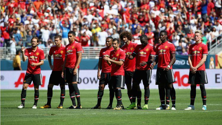 Skuat Manchester United saat berlaga di ICC. Copyright: © Getty Images