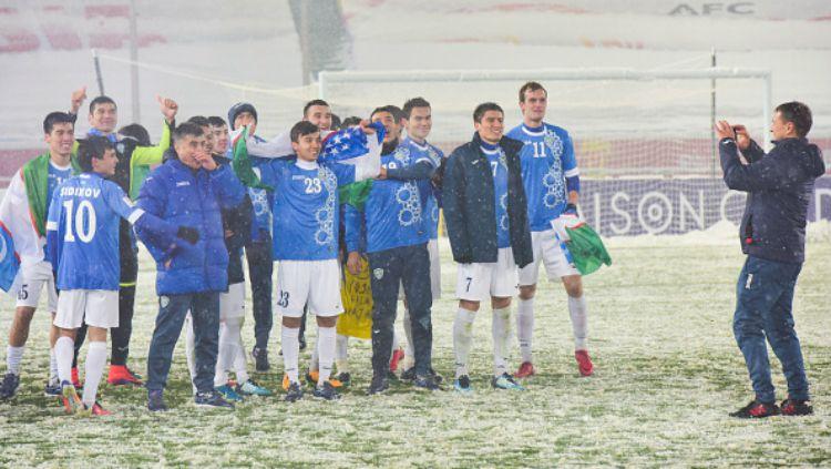 Timnas Uzbekistan, juara Piala AFC U-23 2018. Copyright: © INDOSPORT