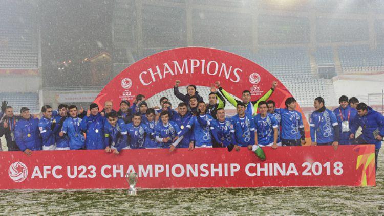 Timnas Uzbekistan, juara Piala AFC U-23 2018. Copyright: © Getty Images