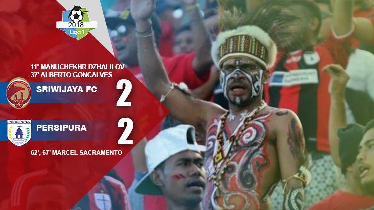 Sriwijaya FC vs Persipura. Copyright: © INDOSPORT