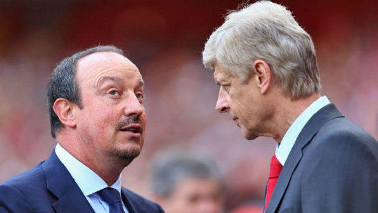 Benitez dan Wenger. Copyright: © Dsily Express
