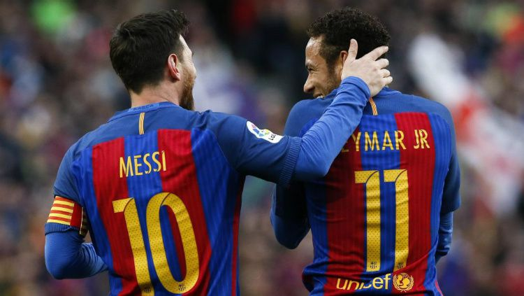 Lionel Messi dan Neymar saat berseragam Barcelona Copyright: © Reuters