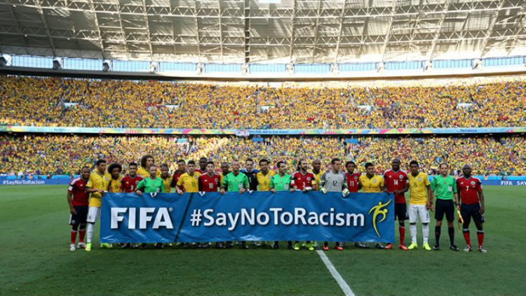 Says No to Racism Copyright: © Getty Images