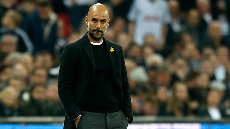 Pep Guardiola, pelatih Man City. Copyright: © Getty Images