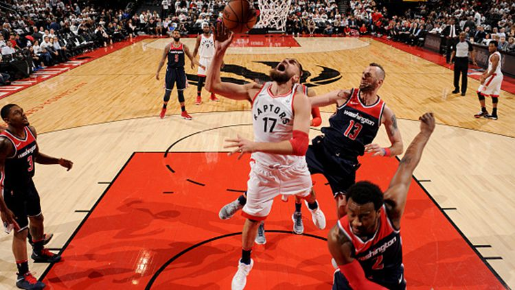 Washington Wizards vs Toronto Raptors. Copyright: © Getty Images