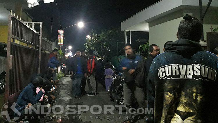 Kondisi di sekitar rumah Dhimas Duha, korban kerusuhan Arema FC vs Persib. Copyright: © INDOSPORT/Ian Setiawan