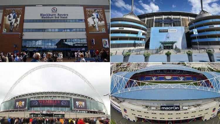 Opsi Stadion untuk Man United selama Old Trafford menjalani penambahan jumlah kursi penonton. Copyright: © INDOSPORT