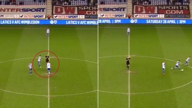 Cara curang Wigan Athletic dalam memulai pertandingan Copyright: © sportbible.com