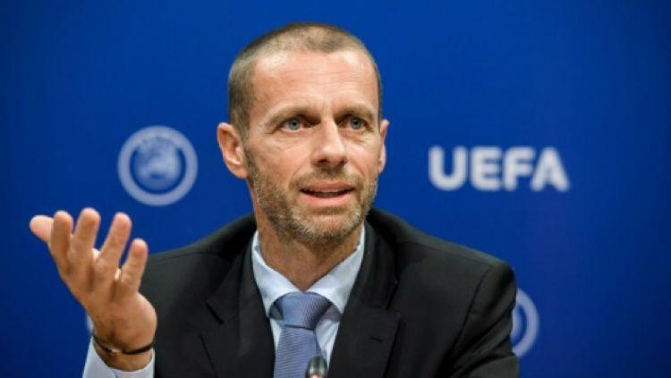 Kengototan Juventus, Real Madrid dan Barcelona untuk menyelenggarakan Liga Super Eropa mengundang komentar pedas dari Presiden UEFA, Aleksander Caferin. Copyright: © AFP