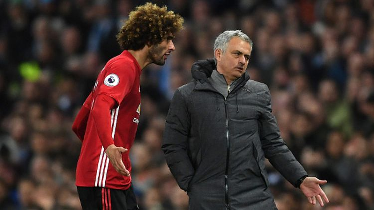 Marouane Fellaini dan Jose Mourinho Copyright: © Getty Images