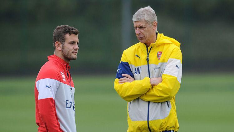 Jack Wilshere dan Arsene Wenger saat masih bersama di Arsenal. Copyright: © Sky Sports
