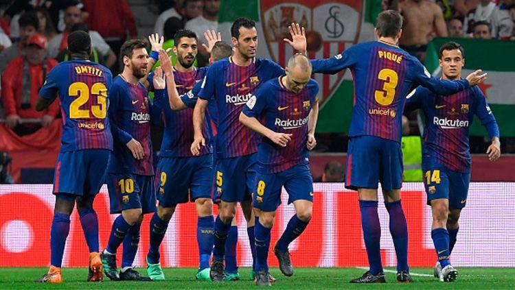 Saat merayakan gol kedua Copyright: © INDOSPORT