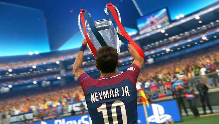 PES 2019 tidak akan menghadirkan fitur Liga Champions Eropa. Copyright: © Youtube/AF Gameplays