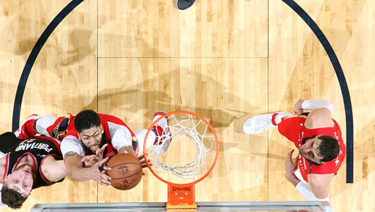 Portland Trail Blazers vs New Orleans Pelicans. Copyright: © INDOSPORT