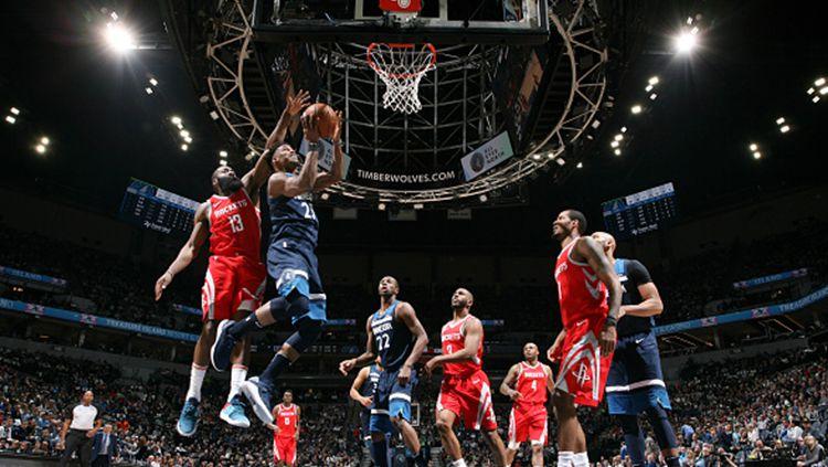 Houston Rockets vs Minnesota Timberwolves. Copyright: © Getty Image