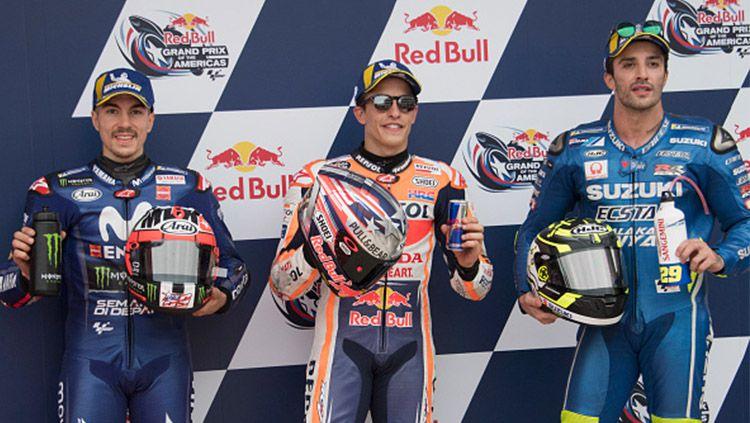 Vinales (kiri) Marquez (tengah), Copyright: © INDOSPORT