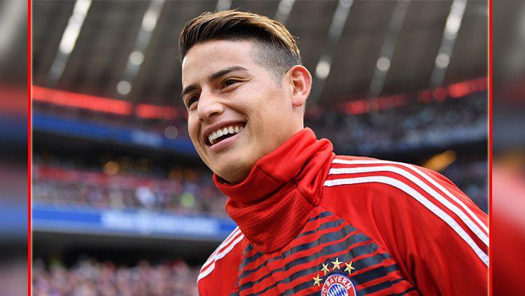 James Rodriguez, gelandang serang Bayern Munchen. Copyright: © INDOSPORT