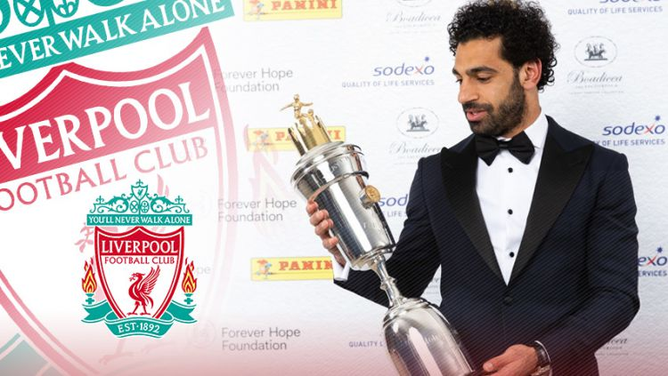 Mohamed Salah, pemain terbaik versi PFA musim 2017-2018. Copyright: © Grafis:Yanto/Indosport.com