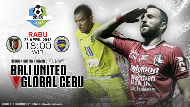 Prediksi Bali United vs Global Cebu Copyright: © Grafis:Yanto/Indosport.com