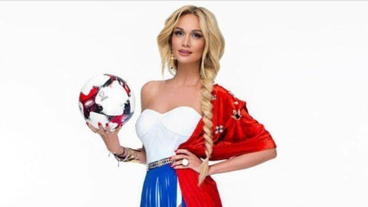 Victoria Lopyreva, duta Piala Dunia Rusia 2018. Copyright: © Instagram/Victoria Lopyreva