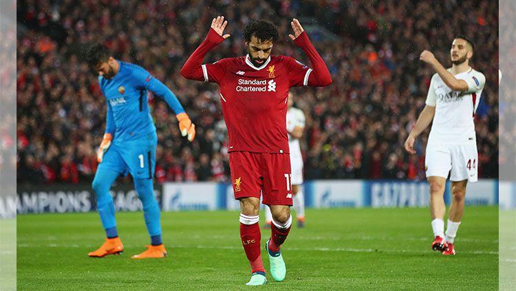 Mohamed Salah saat melakukan selebrasi Copyright: © INDOSPORT