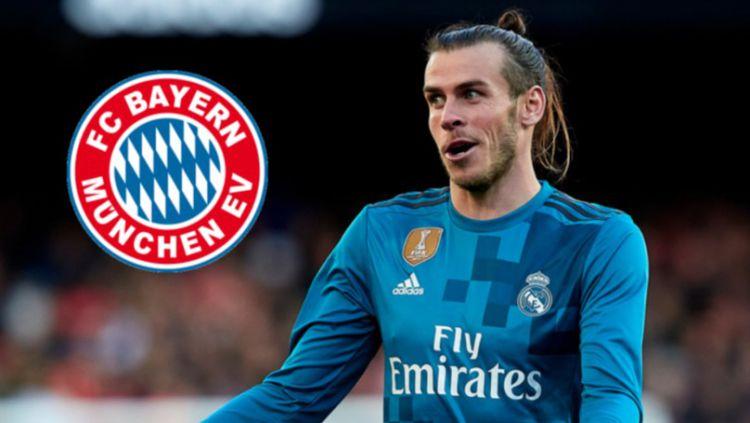 Gareth Bale diisukan tengah melakukan komunikasi dengan pihak Bayern Munchen. Copyright: © INDOSPORT