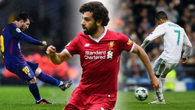 Lionel Messi, Mohamed Salah, Cristiano Ronaldo. Copyright: © Joe.co.uk