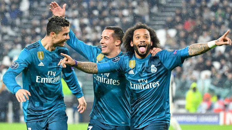 Marcelo saat cetak gol ke gawang PSG. Copyright: © BeinSport