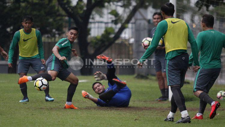 Latihan Timnas U-23 Copyright: © Herry Ibrahim/INDOSPORT.COM