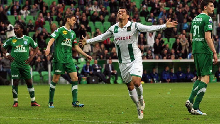 Pemain FC Groningen melakukan selebrasi. Copyright: © Getty Images