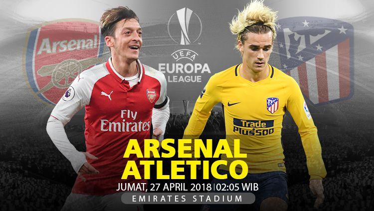Arsenal vs Atletico Madrid. Copyright: © INDOSPORT
