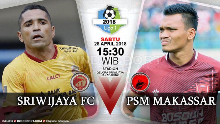 Prediksi Sriwijaya FC vs PSM Makassar Copyright: © Grafis:Yanto/Indosport.com