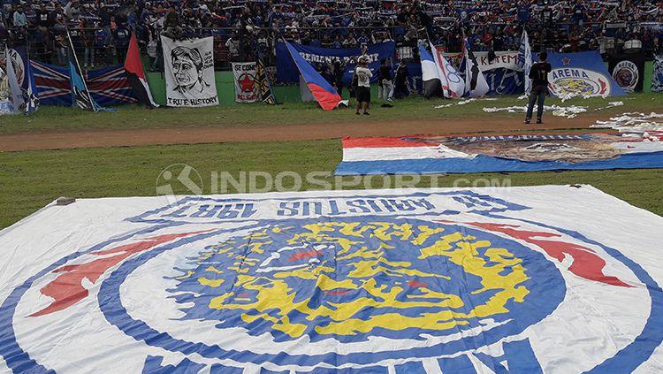 Arema Indonesia memetik tiga angka sebagai penentu langkah mereka di ajang Piala Indonesia, setelah mengalahkan PS Mojokerto Putra. Copyright: © Ian Setiawan/INDOSPORT