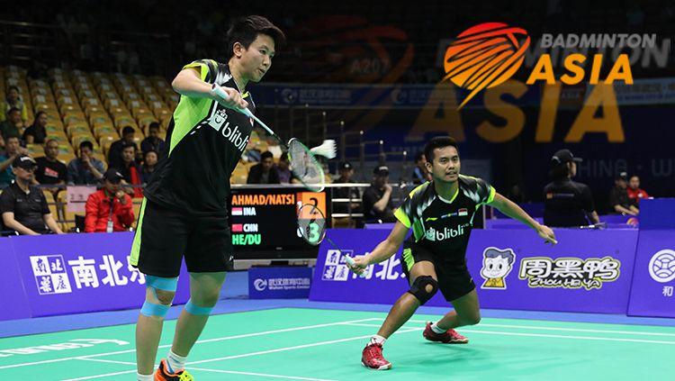 Tontowi Ahmad/Liliyana Natsir di ajang Badminton Asia Championships 2018. Copyright: © HUMAS PBSI