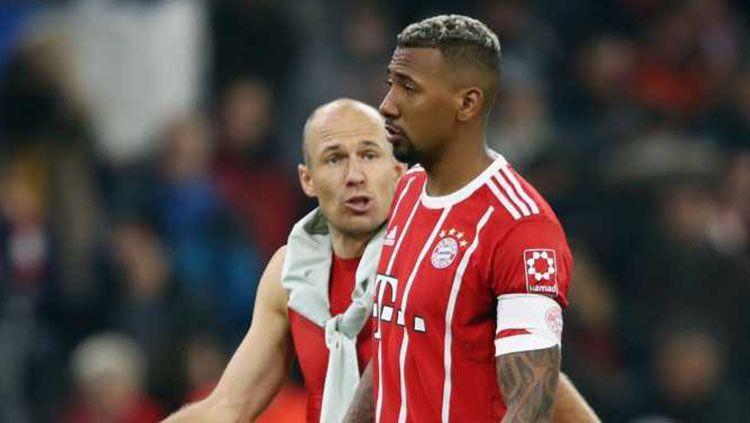 Arjen Robben dan Jerome Boateng. Copyright: © Internet.