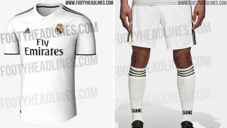 Jersey Bocoran Real Madrid Copyright: © Footyheadlines