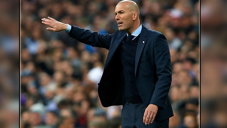 Zinedine Zidane, pelatih Real Madrid. Copyright: © INDOSPORT