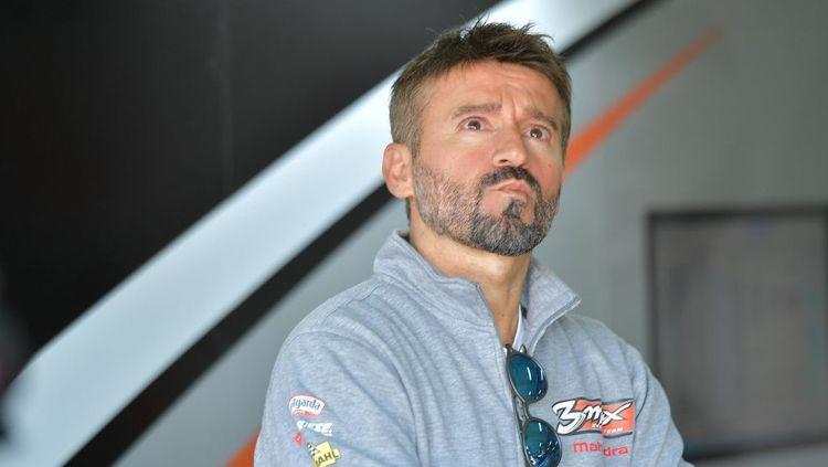 Max Biaggi mengungkapkan bahwa dirinya ogah balik ke MotoGP meski sempat dikabarkan akan menggantikan posisi Andrea Iannone di tim Aprilia di tes pramusim 2020 Copyright: © INDOSPORT