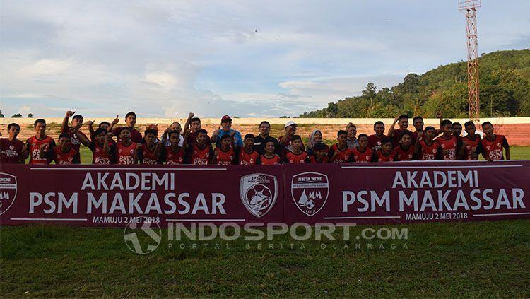 Mamuju dipilih sebagai kota pertama akademi PSM Makassar di Indonesia. Copyright: © INDOSPORT/Wira Wahyu